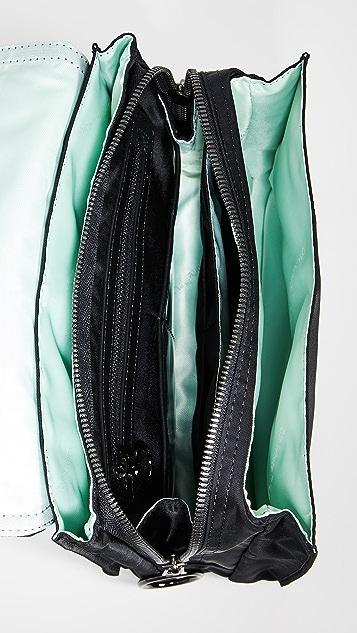 оттенок белого Нейлоновая сумка с клапаном на молнии
