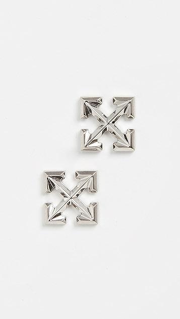 Off-White Small Arrow Earrings