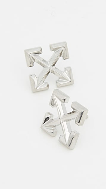 Off-White Small Arrow Earrings