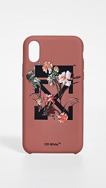 Off-White Flowers Carryover iPhone X Case