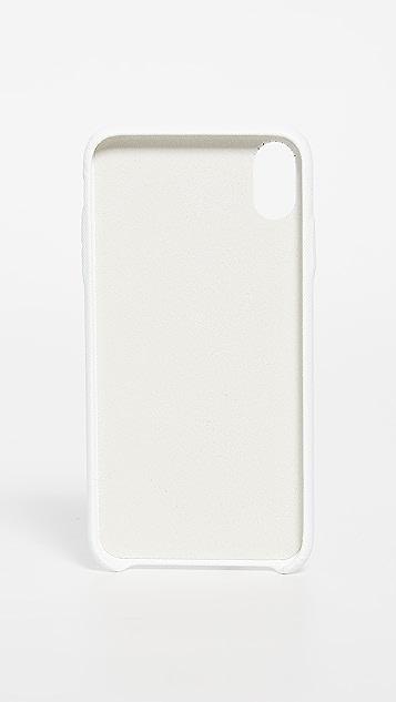 灰白色 多色徽标 iPhone XS Max 手机壳