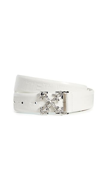 Off-White Leather Industrial Belt