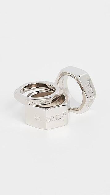 灰白色 螺栓戒指