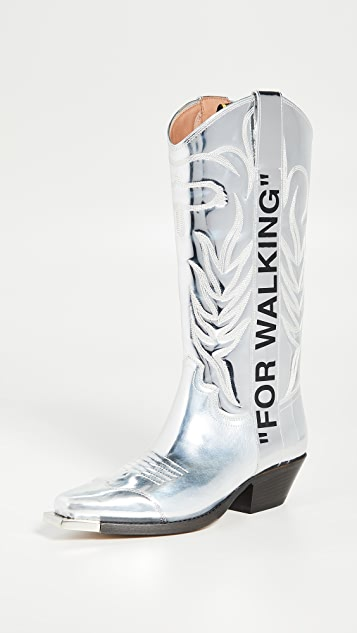 Off-White For Walking 牛仔靴