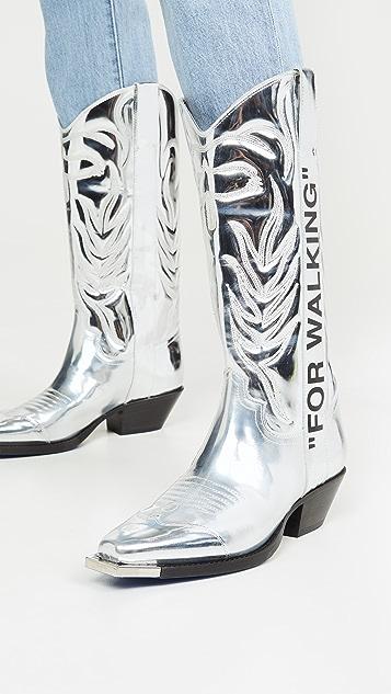 оттенок белого Прогулочные ботинки в ковбойском стиле