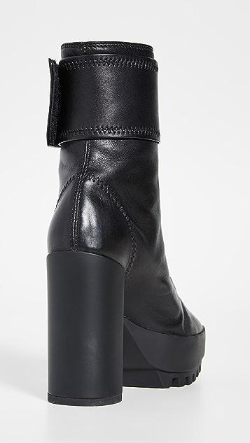 оттенок белого Байкерские сапоги на каблуках с запахом