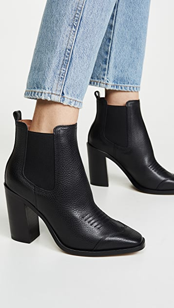 Off-White High Heel Cowboy Booties
