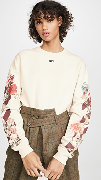 Off-White Flowers Sweatshirt