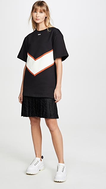 Off-White Intarsia Sweatshirt Dress