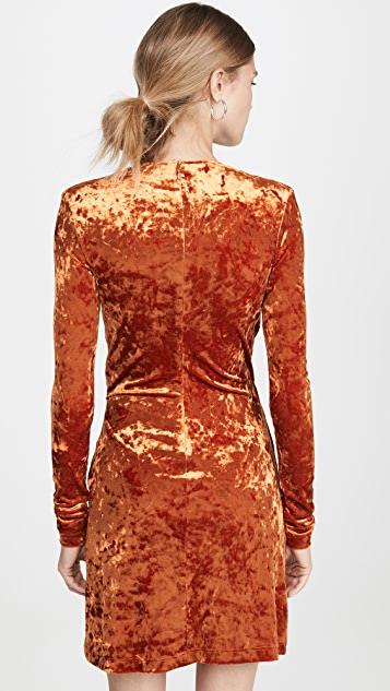 Off-White Velvet Stretch Dress