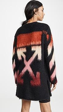 Diagonal Intarsia Mohair Sweater Dress