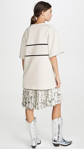 оттенок белого Платье-толстовка