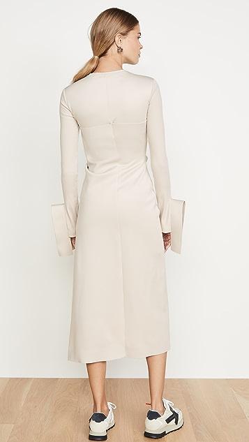 Off-White Wrap Shirtdress