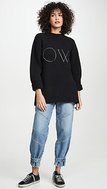 Off-White Knit Oversize Sweater