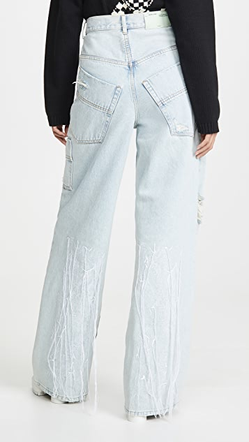 Off-White Oversize Tomboy Pants Bleach White