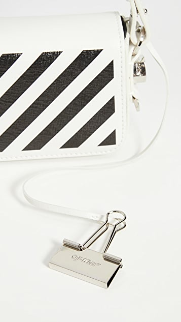 Off-White Diagonal Baby 翻盖包