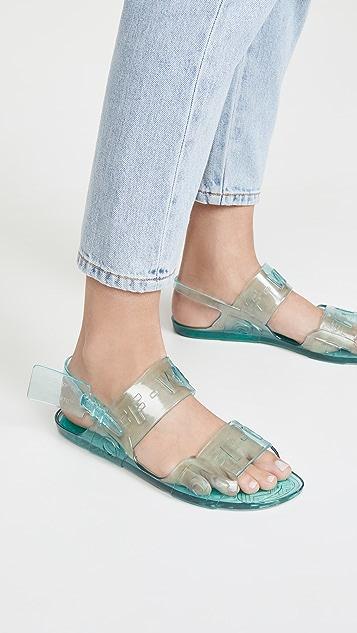 Off-White Zip Tie Jelly Sandals