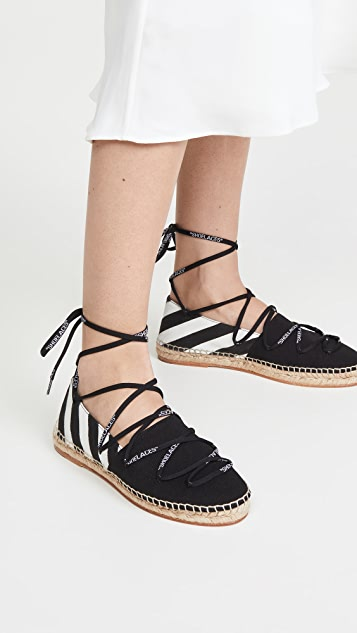 Off-White Diag Canvas Espadrilles