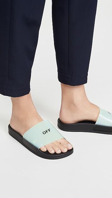 Off-White Pool Sliders