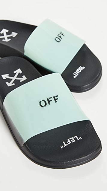 Off-White Pool Sliders