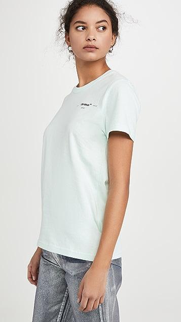 оттенок белого Повседневная футболка Corals с принтом