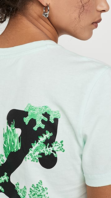Off-White Corals Print Casual Tee