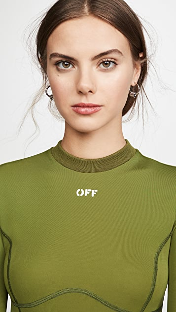Off-White Multi Detail Long Sleeve Top