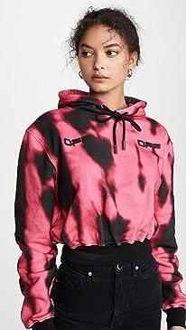 Tiger Dye Cropped Hoodie