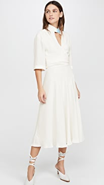 Crepe Romantic Dress