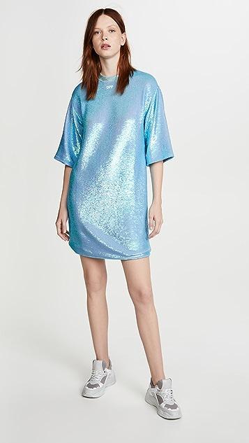 Off-White Paillettes Sequin Dress