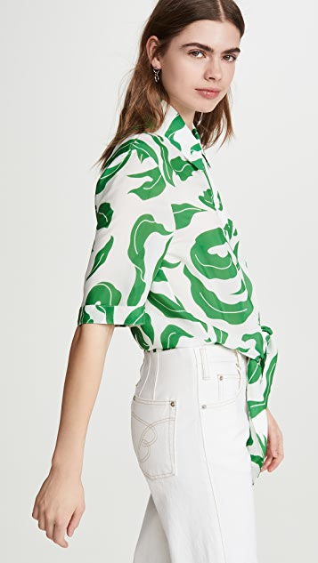 Off-White Leaves Baseball Knot Shirt