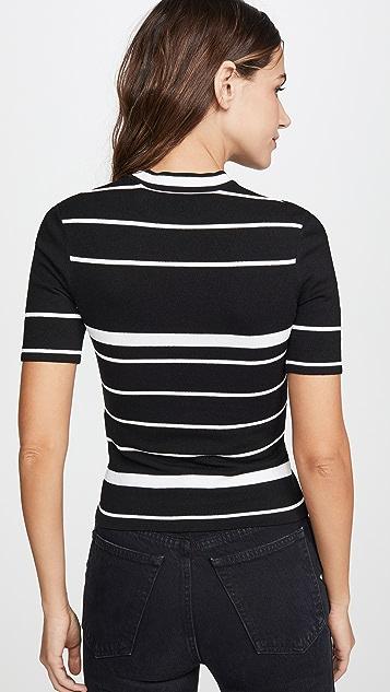 灰白色 针织基本款箭头 T 恤