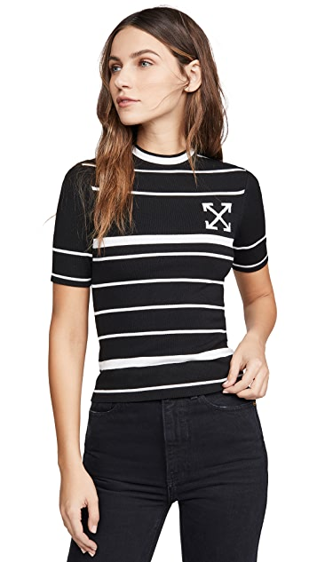 Off-White Knit Basic Arrow T-Shirt