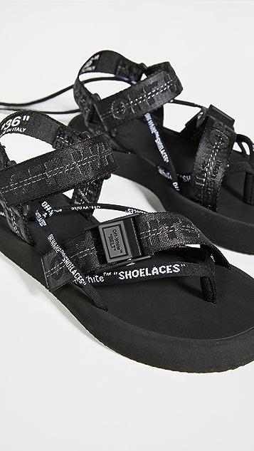 Off-White Multistrap Micro Sandals