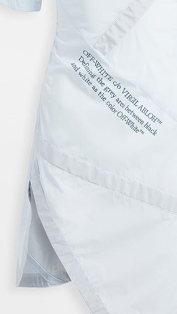 灰白色 Nylon Parachute 连衣裙