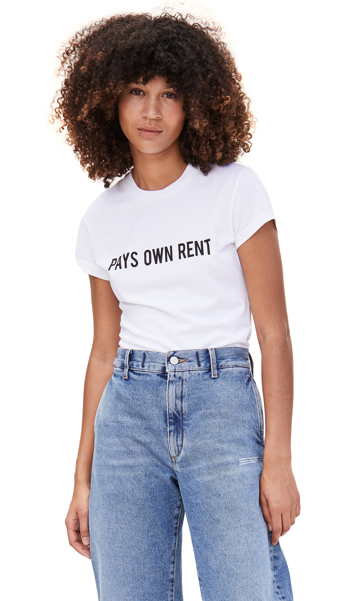 Off-White Sentences Fitted Tee