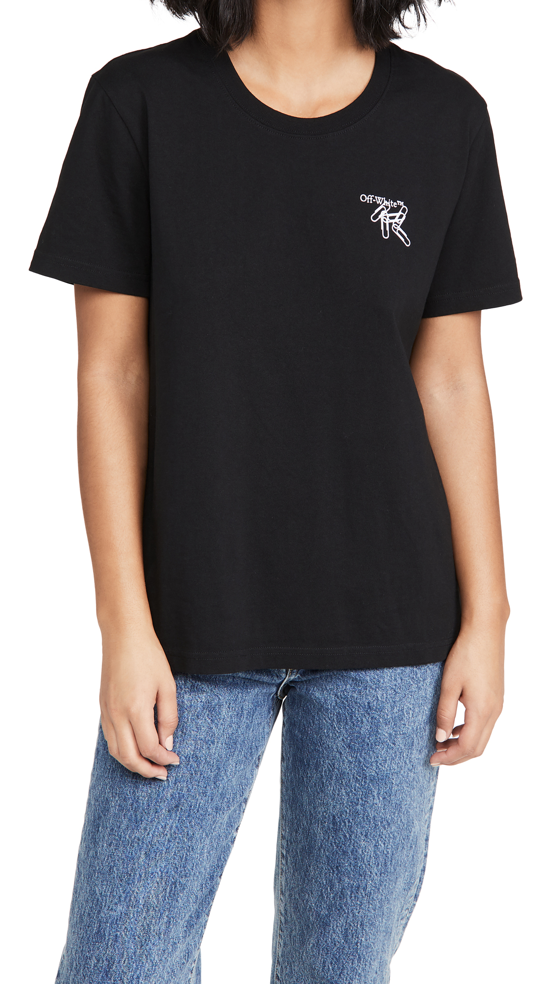 Off-White Paper Clip Arrows Casual Tee