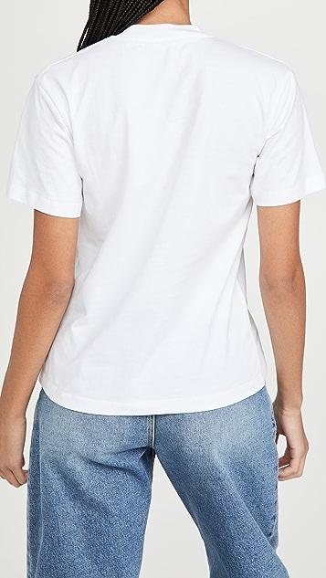 Off-White 刺绣迷你箭头休闲 T 恤