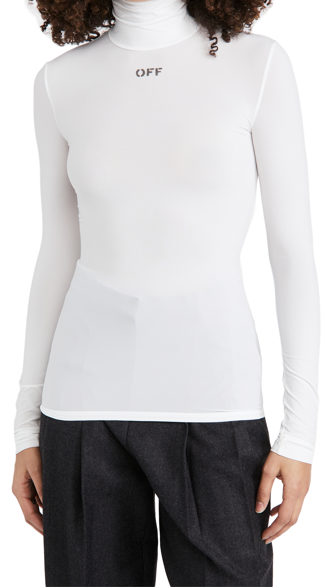 Off-White High Neck Top