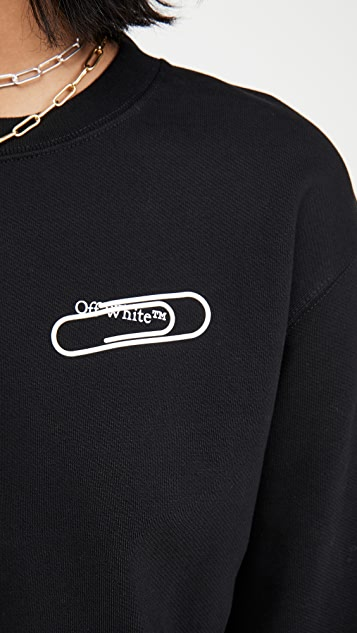 Off-White Paper Clip Basic Crop Top