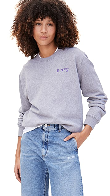 Off-White OW Logo Regular Crew Neck Sweatshirt