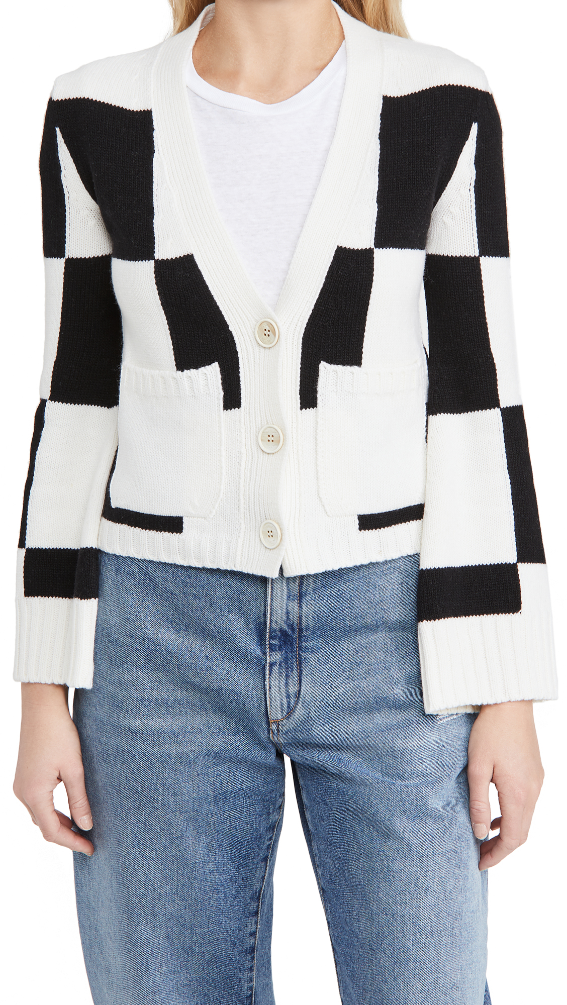 Off-White Check Twin Set Cardigan