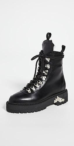 Off-White - 皮徒步靴