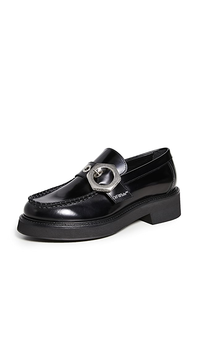 Off-White Loafers   SHOPBOP   Black