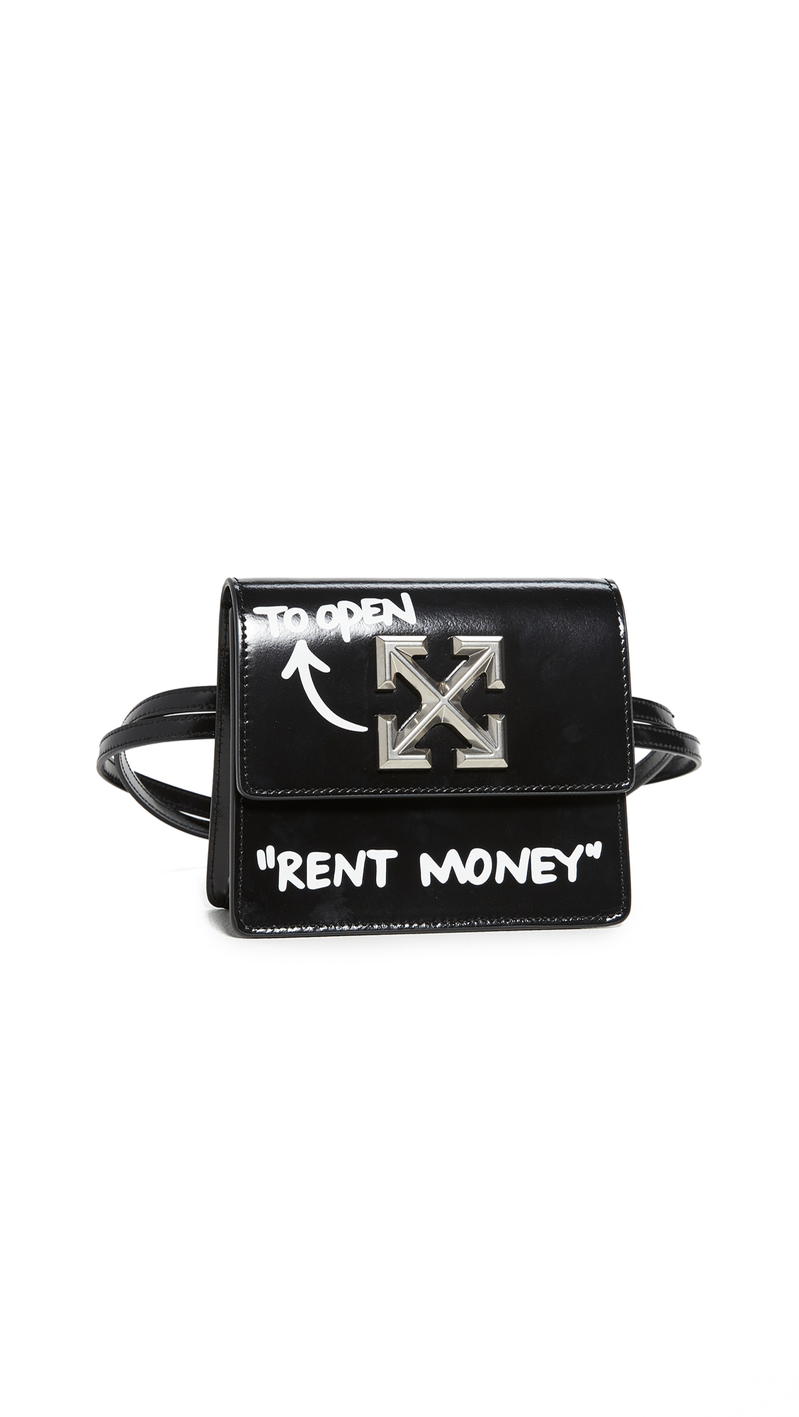 Off-White Turn to Open Jitney Bag