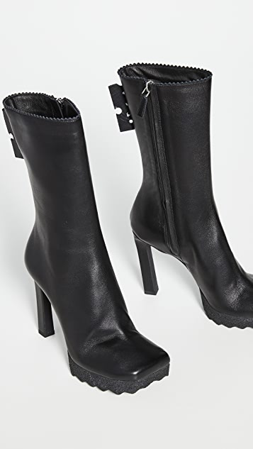 Off-White Nappa Ankle Boots