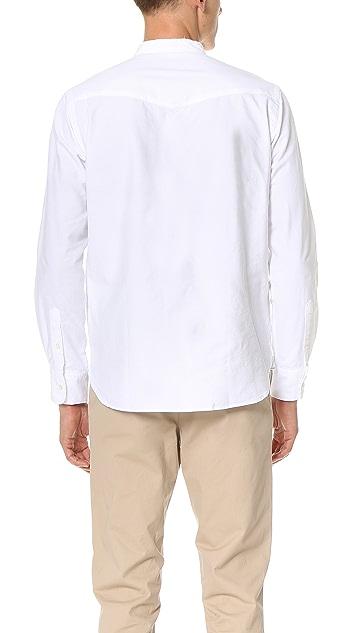 Officine Generale Auguste Raw Edge Japanese Selvedge Oxford Shirt