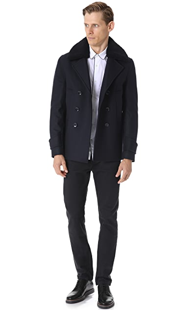 Officine Generale New Melton Wool Peacoat