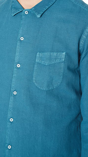 Officine Generale Piping Pigment Dye Shirt