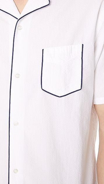 Officine Generale Dario Piping Seersucker Shirt